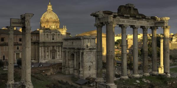 """Although enrollment in the humanities at universities nationwide has fallen in recent years, the same is not true of classics, or """"classical studies,"""" as it is sometimes called. Photo of Rome under stormy skies by Tyler Lansford."""