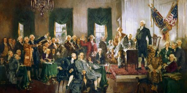 Scene at the US constitution