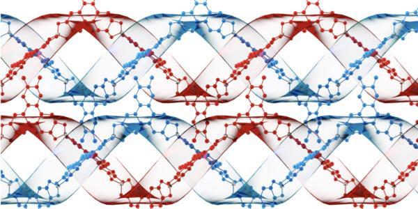 Close up of DNA strands