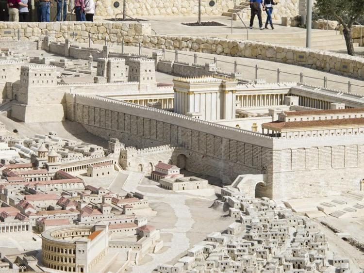 Model of Jerusalem in the late Second Temple period.  Dan Lundberg/Flickr, CC BY-SA