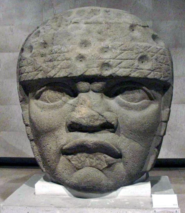 Olmec colossal head from San Lorenzo Tenochtitlán, Veracruz, Mexico.  Maribel Ponce Ixba, CC BY