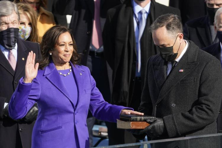 Vice President being sworn in