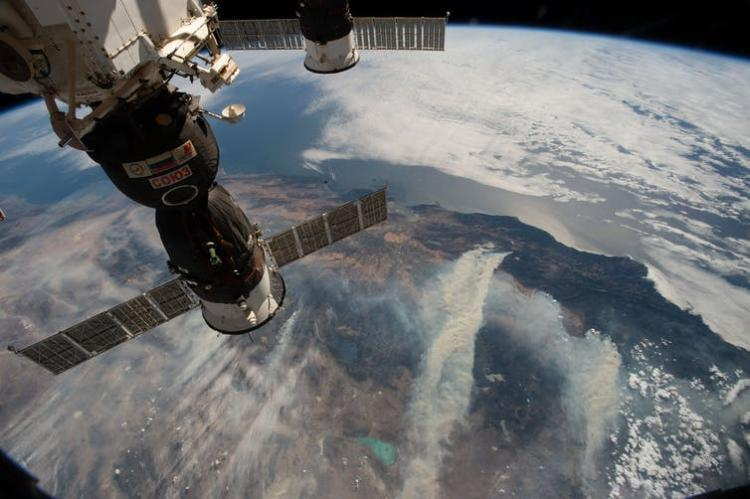 Wildfires seen from the International Space Station. NASA