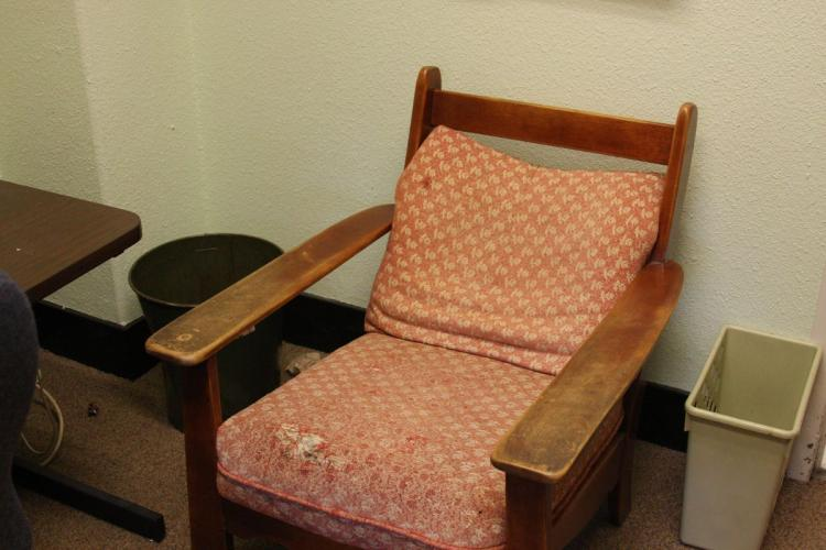 An example of Ketchum's previous office furniture.