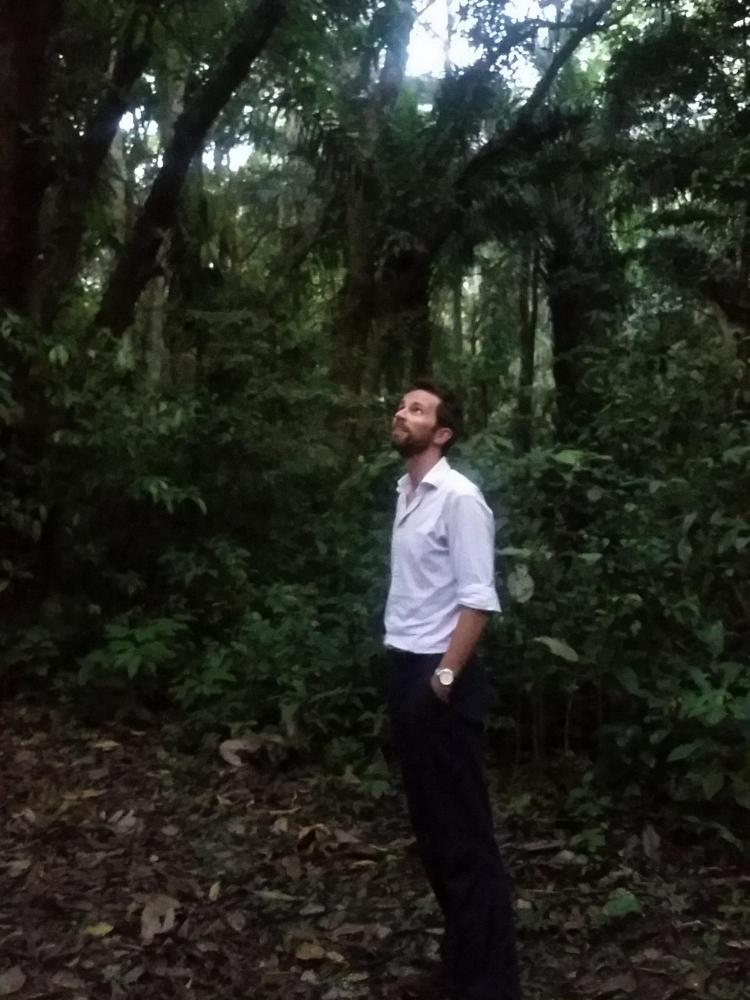 Lead author Peter Newton in the Amazonian state of Acre, Brazil.  If you could find some kind of forest photo showing people or houses near a forest, perhaps from above, that could be a good header.
