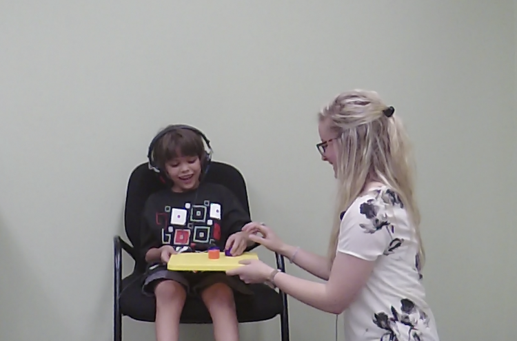 Child getting tested