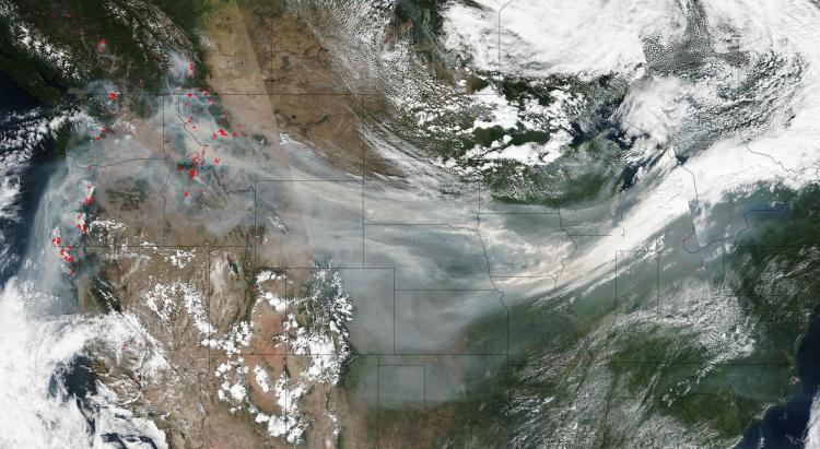 NASA photo of the smoke