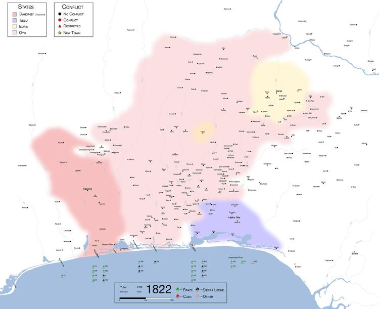 Maps of fallen kingdom shed light on Atlantic slave trade ... Map Of Oyo Empire on map of maiduguri, map of kingdom of prussia, map of nigerian civil war, map of borno state, map of benin city, map of ibadan, map of zulu kingdom, map of dutch east indies, map of new france, map of kingdom of castile, map of yoruba, map of kingdom of kush, map of ghana, map of democratic republic of the congo, map of fatimid caliphate, map of gombe state, map of kano, map of kingdom of nri, map of katsina,