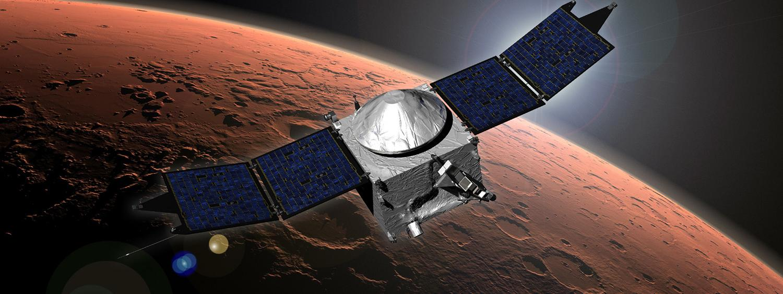 Illustration of the MAVEN mission
