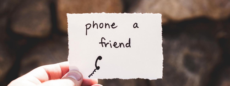 Phone a friend image