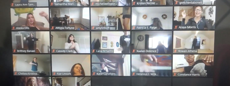 People dancing over zoom
