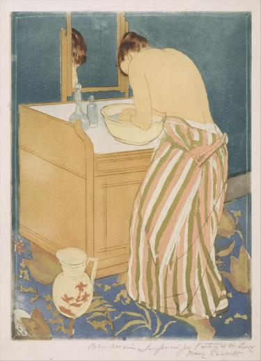 In her honors thesis, Castro examined the 19th century paintings of bathers by Mary Cassatt.