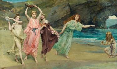 The Gardens of Adonis, an 1888 painting by John Reinhard Wkeguelin depicts women bearing the container-grown plants and festal rose garlands to dispose of in the sea, as part of the festival of Adonis.