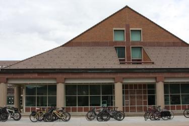 SEEC educational building, west-face