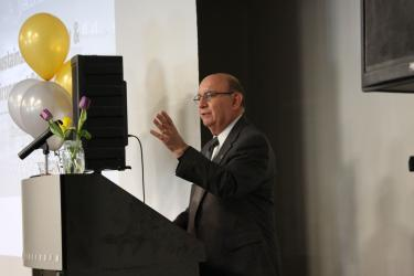 Chancellor Phillip DiStefano speaks at the opening ceremony.