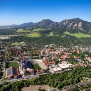 Aerial CU Boulder photograph