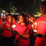 Candleight for trafficking victims