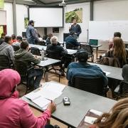 Generic seminar classroom photograph