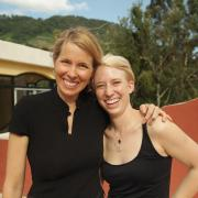 Beth and Chelsea in Guat