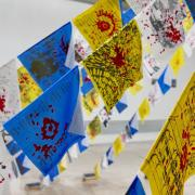 Prayer Flags for Peace exhibition