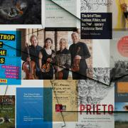 Collage of faculty book covers