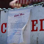 COVID Closure sign