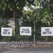 Matter showing affirming posters reminding people they matter