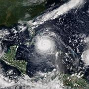 Hurricanes Katia, Irma and Jose on Sept. 8, 2017. NOAA
