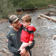 Travis and son fishing