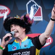 John Warner at the USA Pro Cycling Challenge (USPCC) Time Trial Awards. Photo by Jenise Jensen.