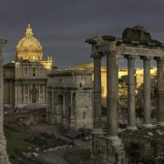 "Although enrollment in the humanities at universities nationwide has fallen in recent years, the same is not true of classics, or ""classical studies,"" as it is sometimes called. Photo of Rome under stormy skies by Tyler Lansford."
