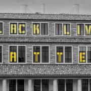 Black Lives Matter on building at CU