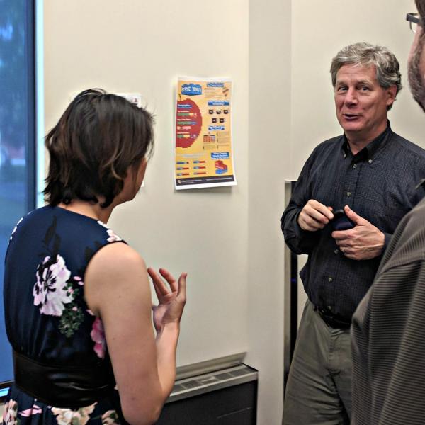David Paradis discusses an example of visual design with Jacie Moriyama