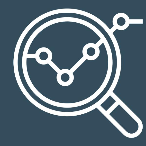Inclusive Data Science logo of a magnifying glass viewing a network