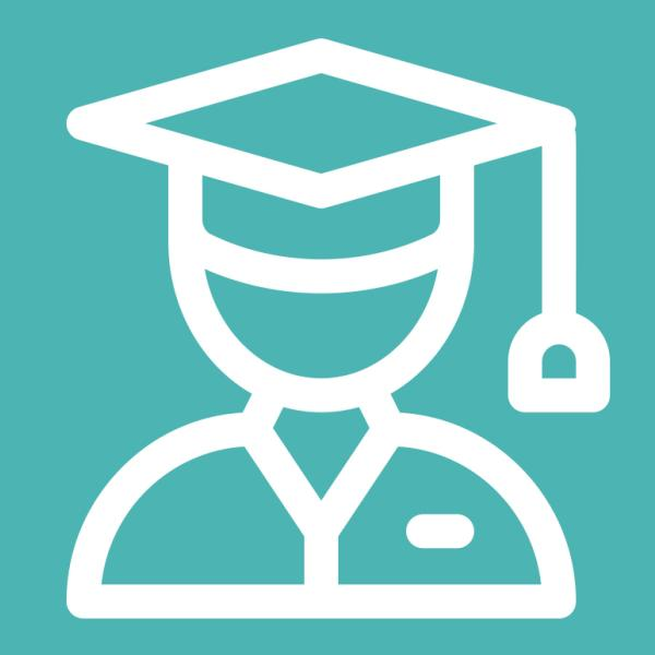 Student Success logo featuring a person in a graduation cap