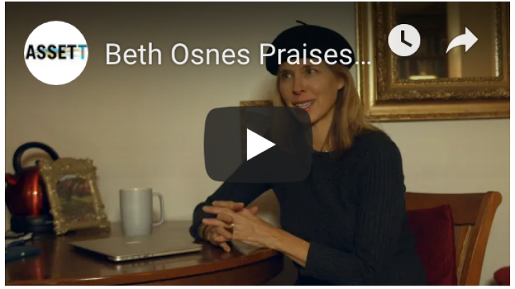 Beth Osnes being interviewed about working with an STC