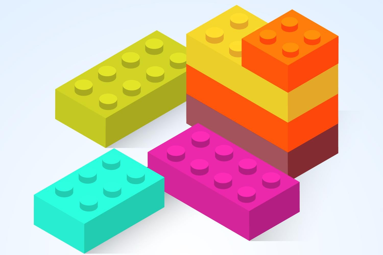 Colorful lego-style blocks