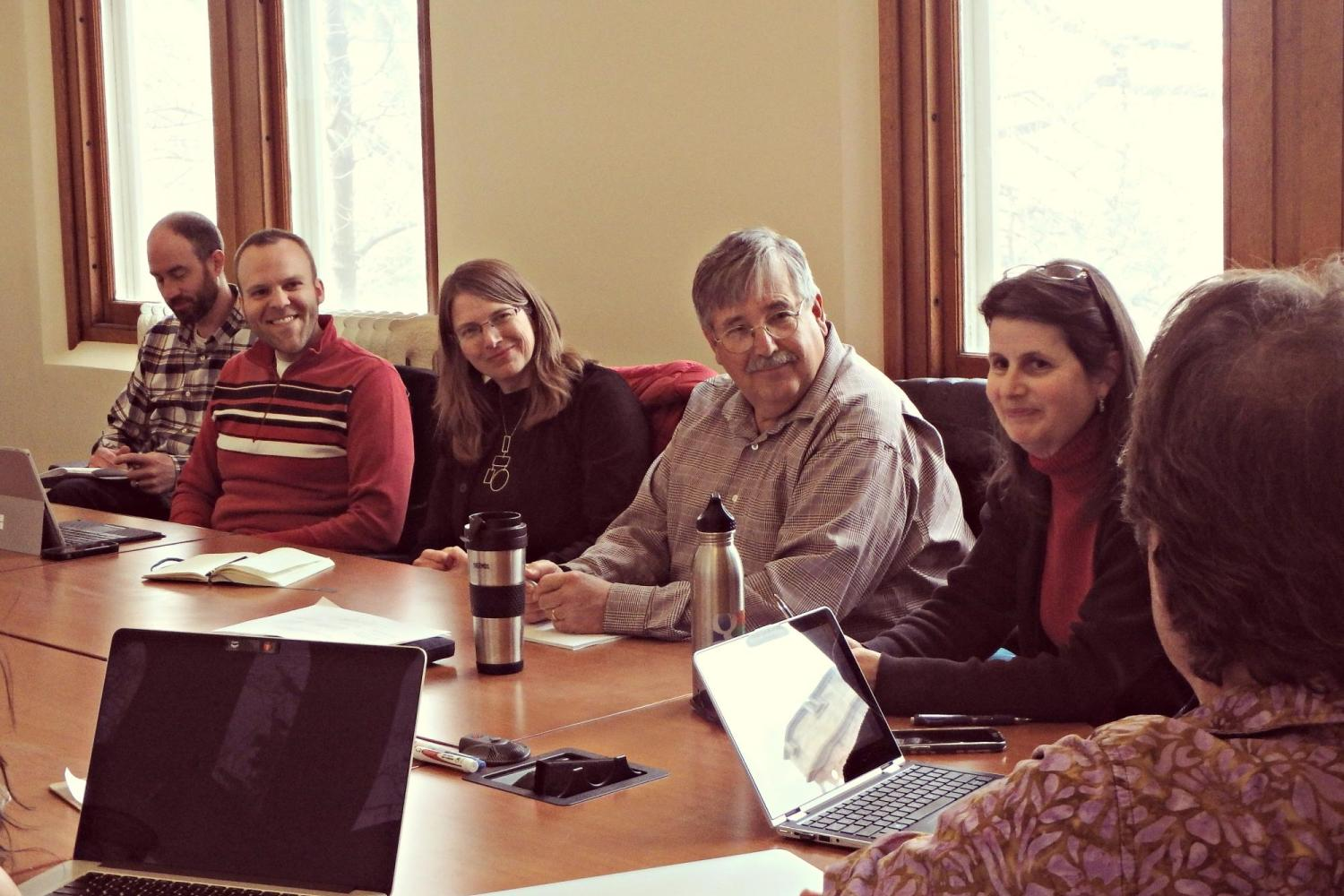 Faculty Fellows engaging in a discussion