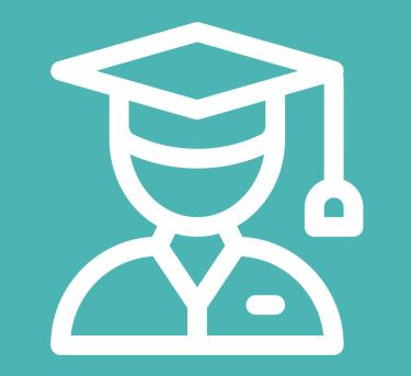 Logo featuring a student in a graduation cap