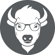 BuffsCreate icon featuring Betty, a female buffalo with smart-looking eyeglasses