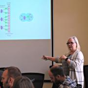 Melanie Cooper presents to the Faculty Fellows