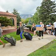 Image of students moving in