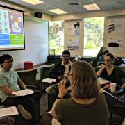 Participants work in small groups during a workshop on Universal Design for Learning