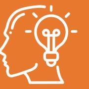 Logo with a human head and a lightbulb