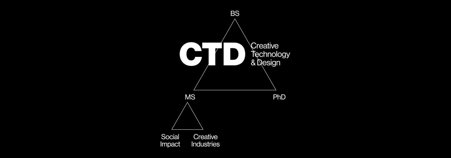 graphic depicting Creative Technology and Design degrees offered by atlas