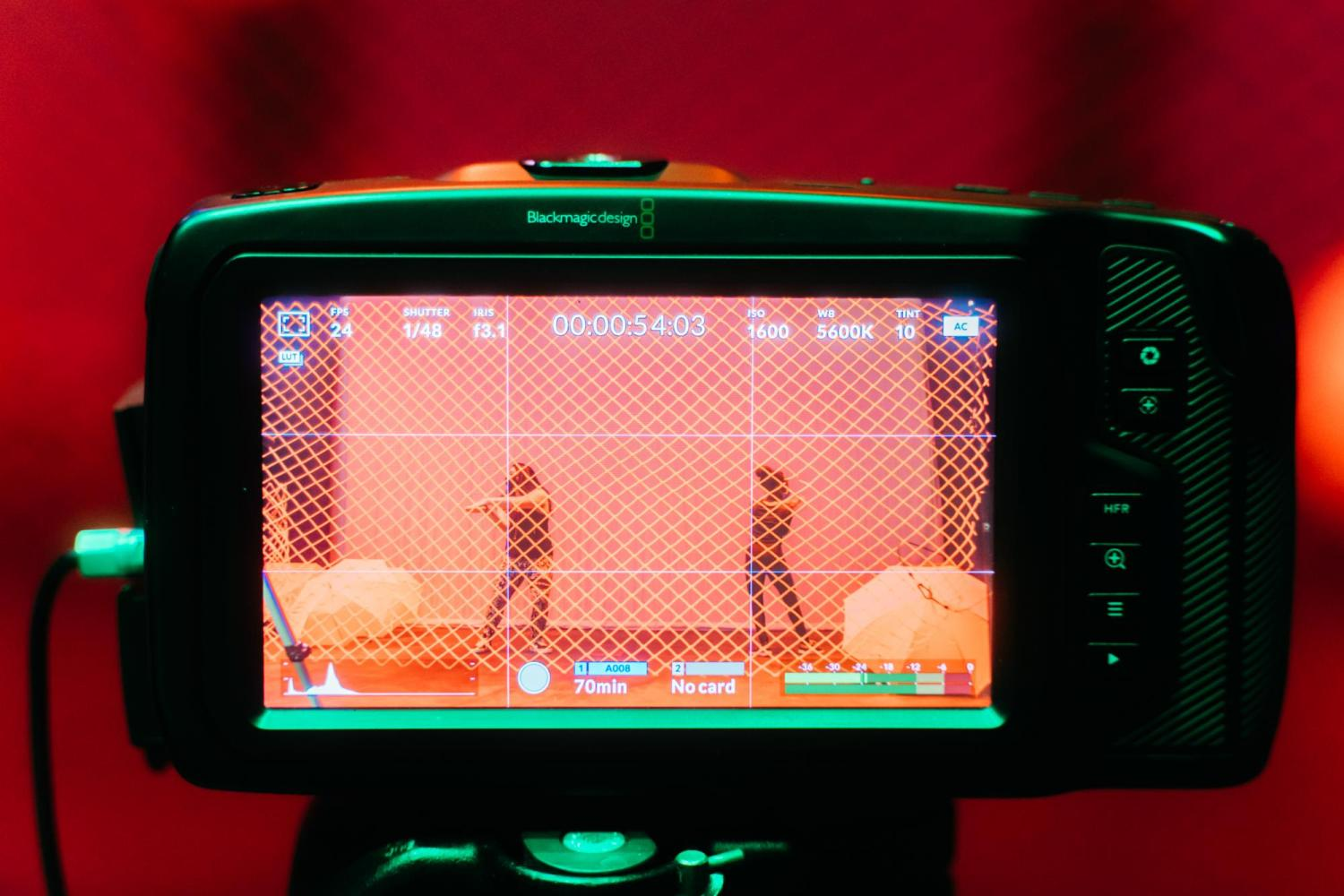 Photo of camera screen showing dancers