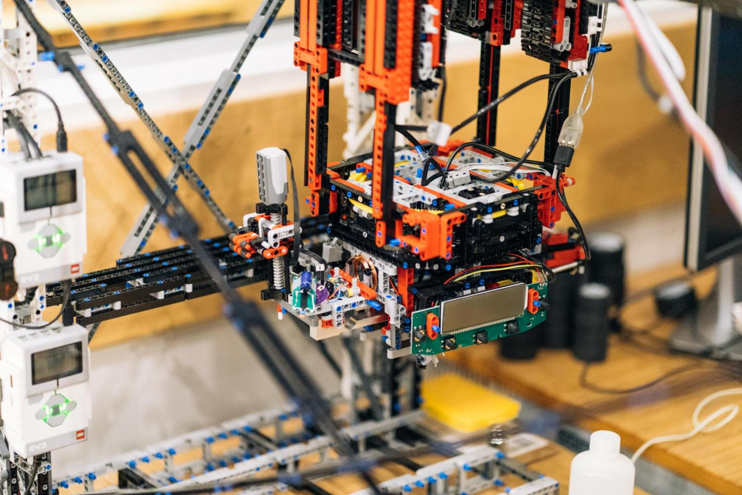 Photo of ChemBot made of LEGO