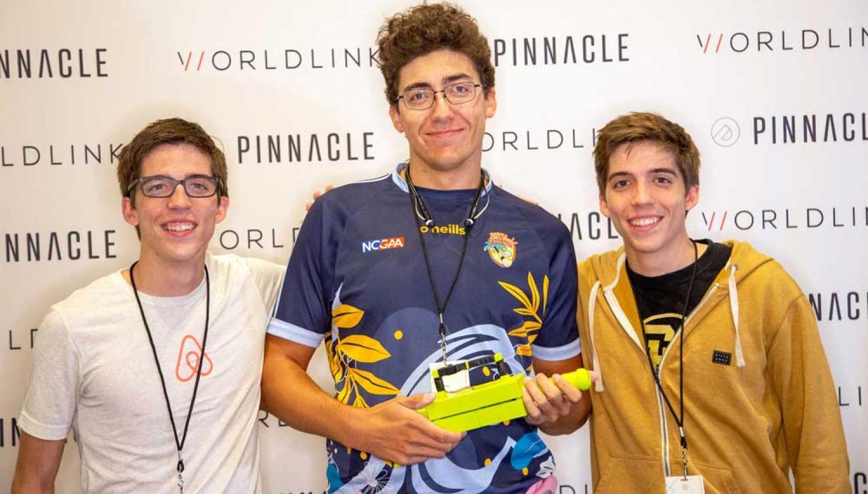 Colin (left) and Luke (right) Soguero, and Mason Moran