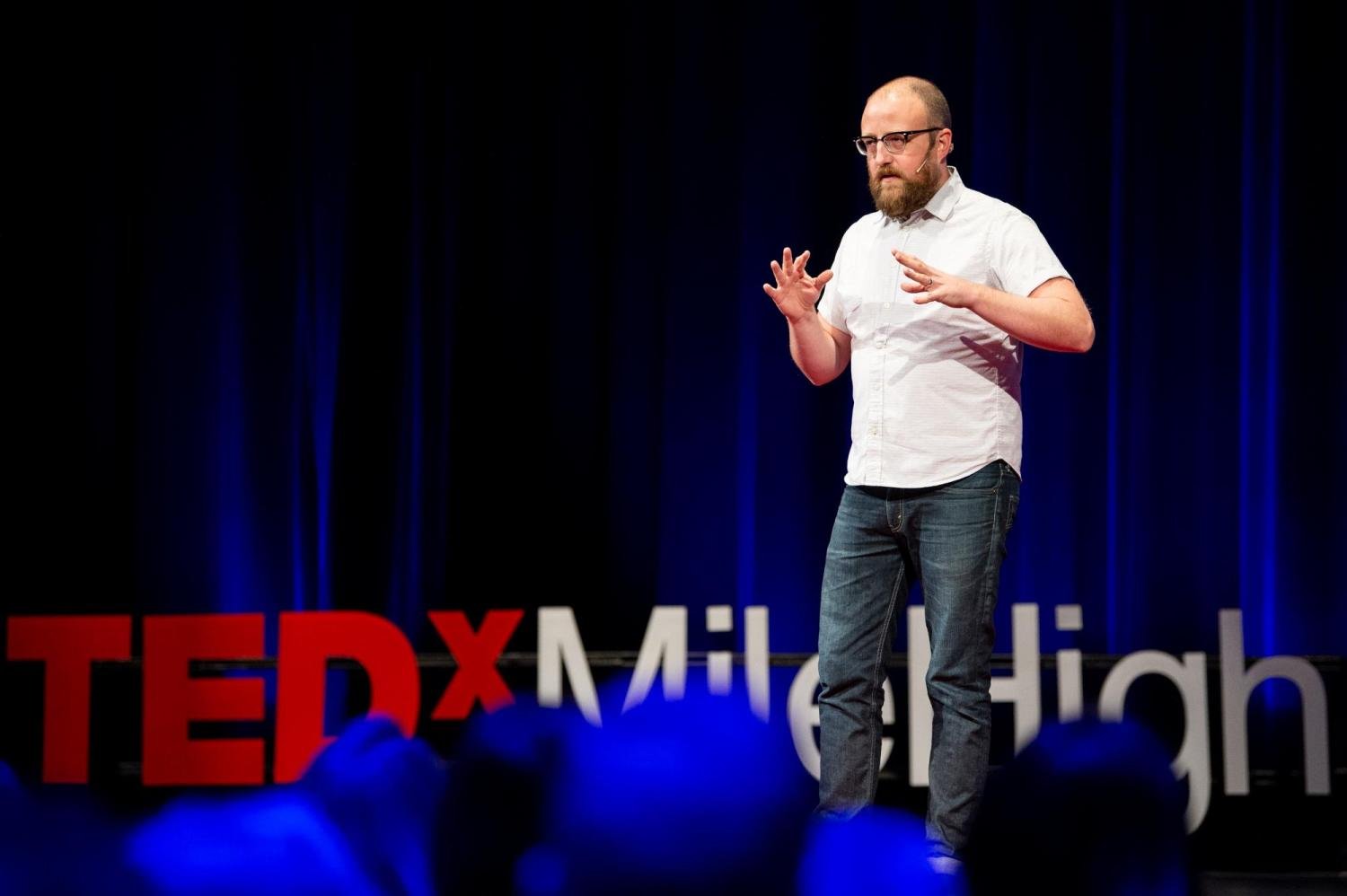 Danny Rankin speaking at TEDxmilehigh