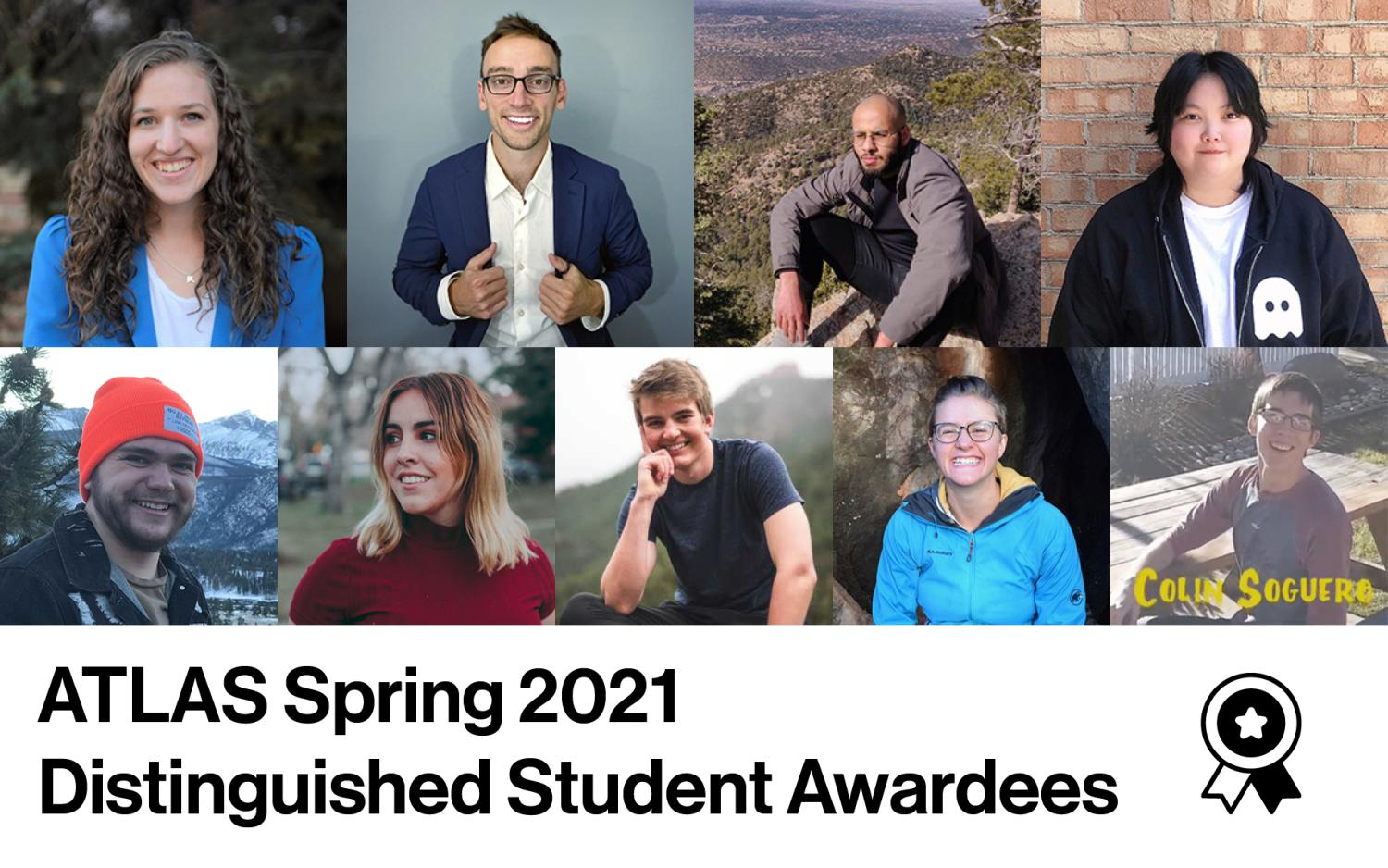 A collage of photos of the ATLAS students who received ATLAS awards in 2021.